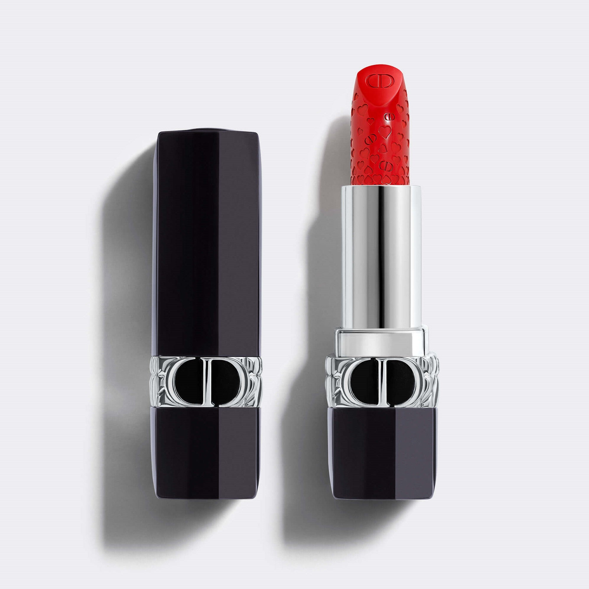 ROUGE DIOR VALENTINES' DAY LIMITED EDITION | Lipstick - Engraved Hearts Motif - Couture Color - Satin Finish - Floral Lip Care - Comfort and Long Wear