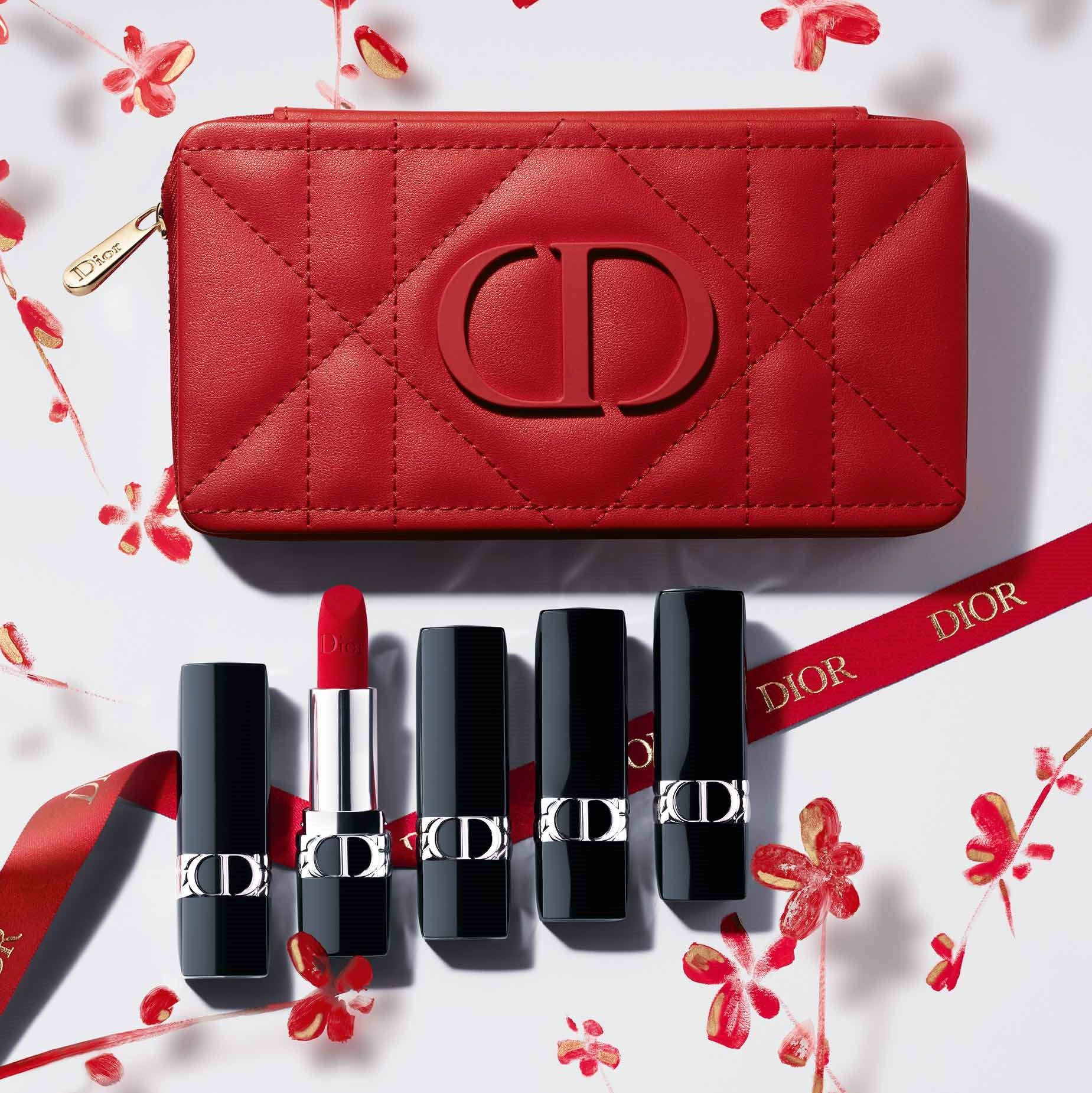ROUGE DIOR | Refillable Lipstick Collection - Couture Color & Floral Lip Care - Long Wear