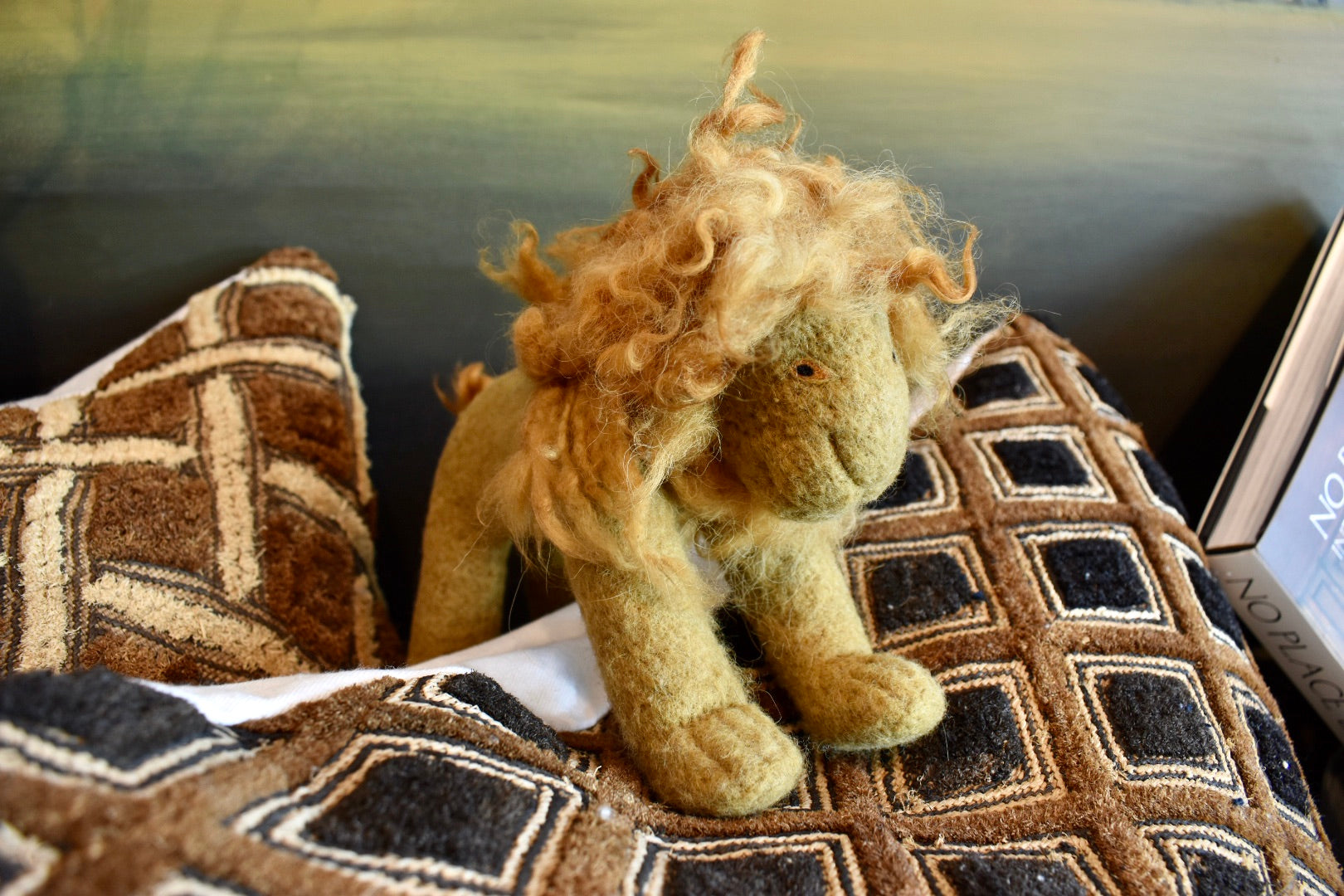 Hand Felted Lion