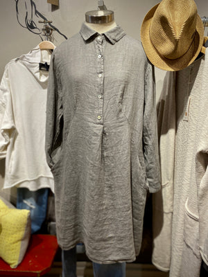 Collared Linen Tunic/Dress