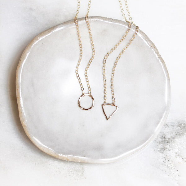 Handmade 14K Gold Fill Pendant Necklace