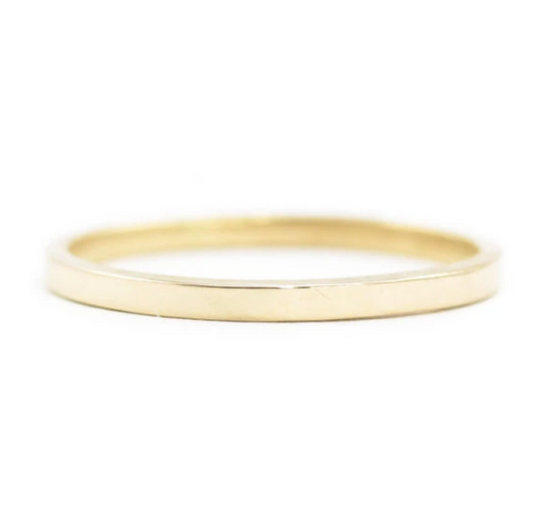 14K Hand Carved Gold Wedding Stacker Band