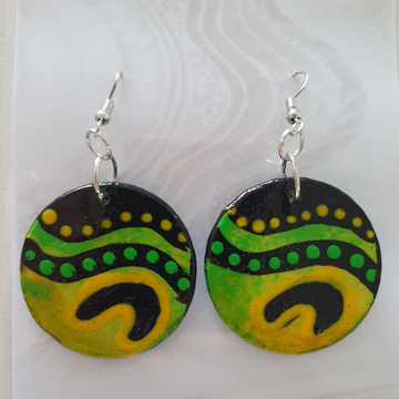 Hand Painted Indigenous Earrings by Kayelene Slater-Terry