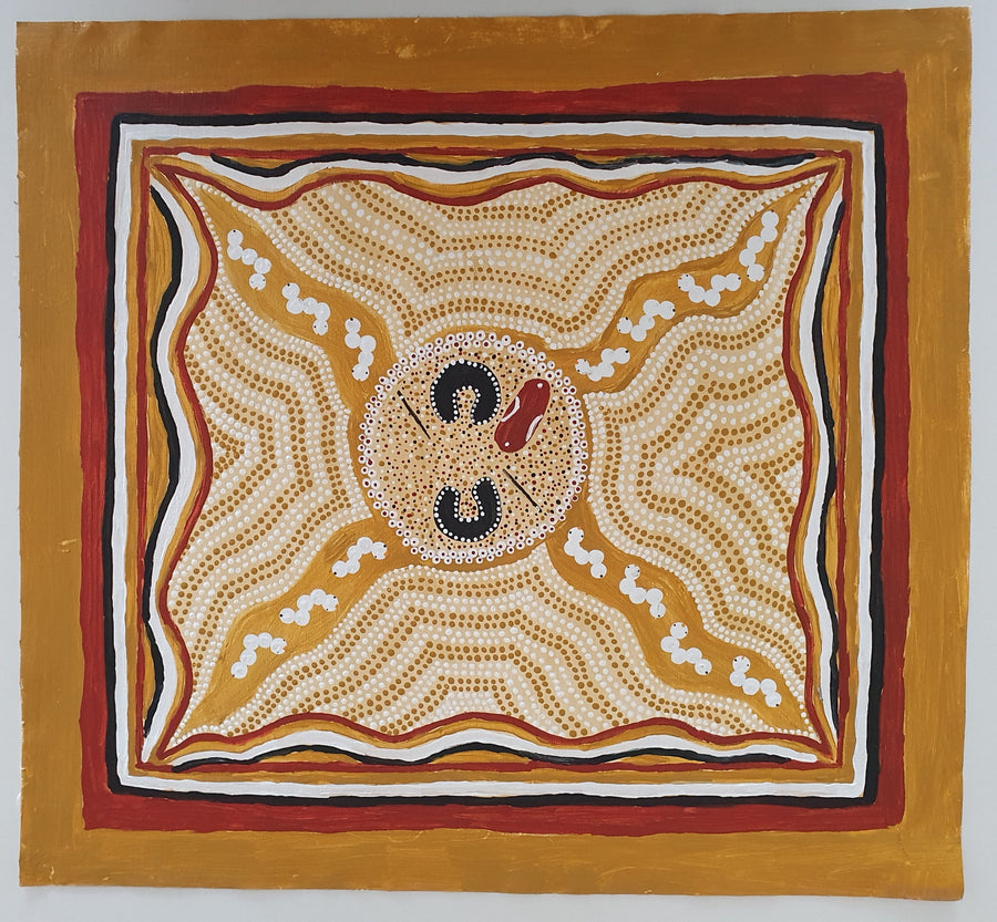 Indigenous-Art-Bush-Witchetty-Grubs-Betty-Davey