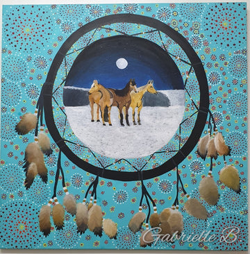Indigenous-Art-Horse-Whispering-Gabrielle-Barney