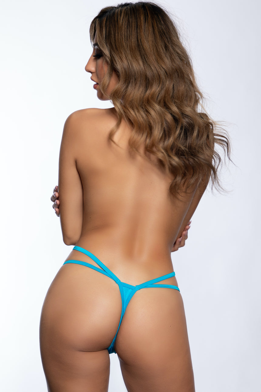 "#100DB-01 Diamond 2 Strap 2"" Thong - Lycra"