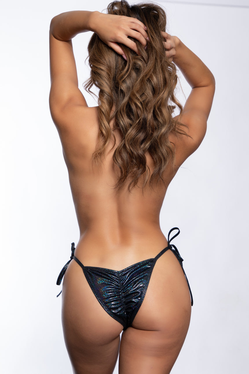 #101T-03 Tie Side Scrunch Butt - Twinkle