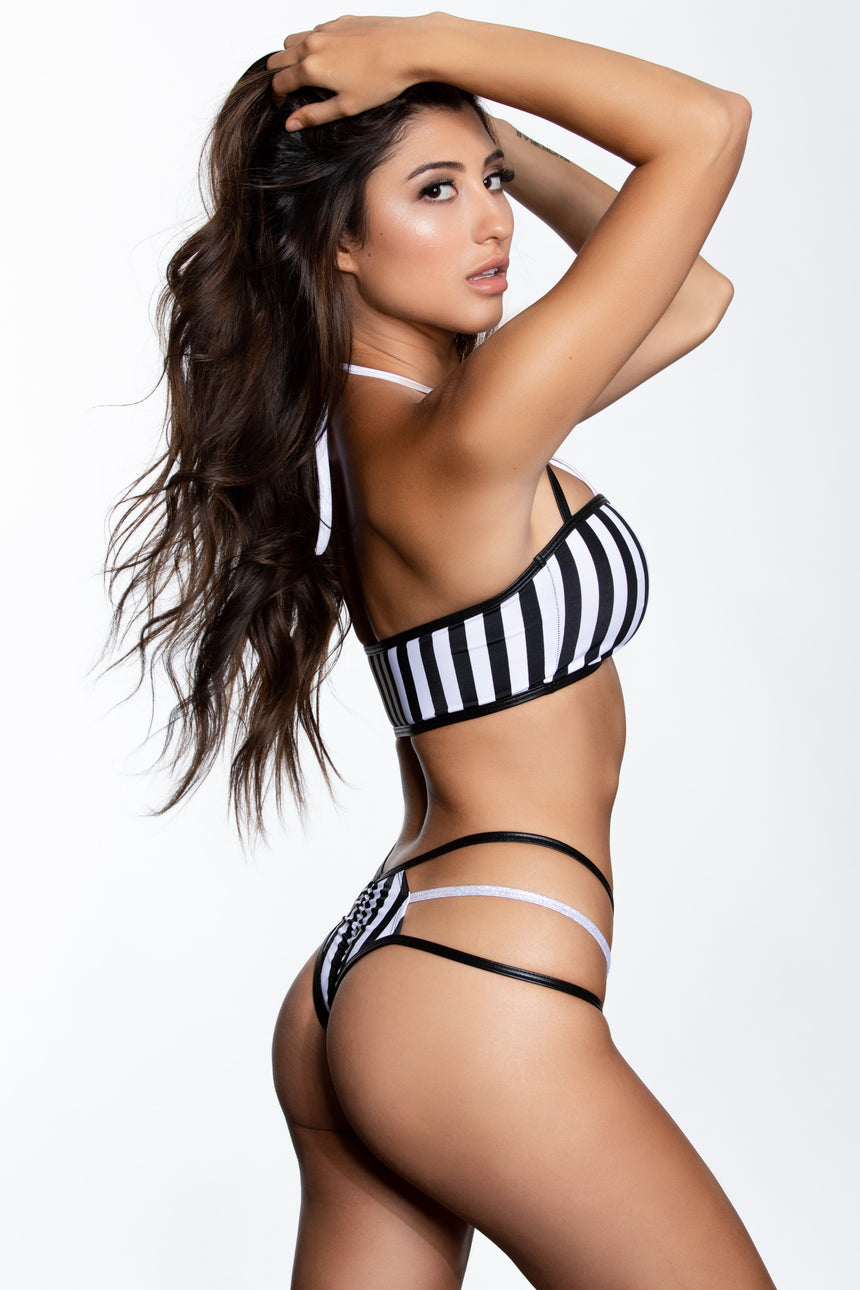 #136-REF Bandeau 3 Strap Referee Top
