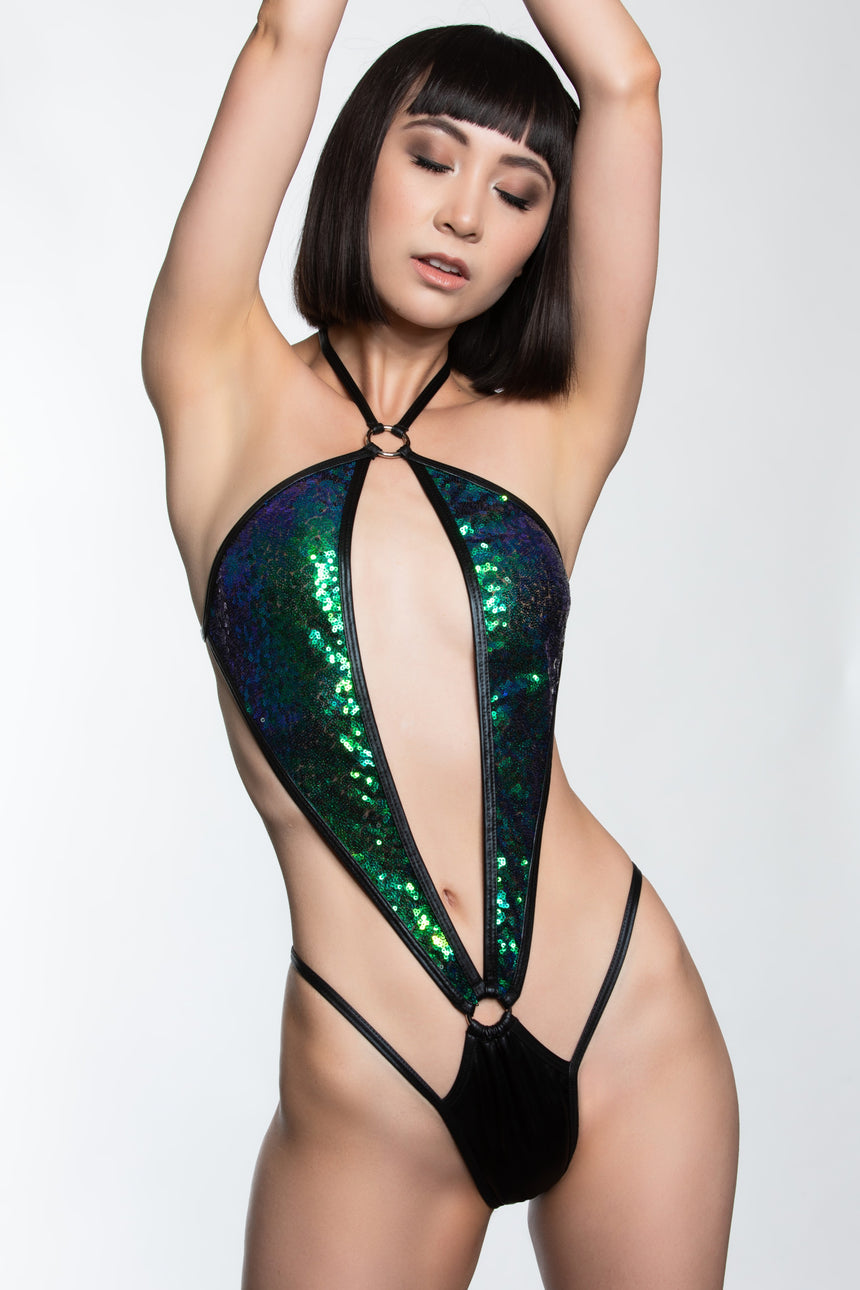 #2050-04 Butterfly Romper - Sequin