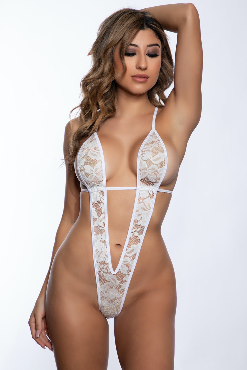 #1000T-06 Tri-Top w/ Tie Side V-Back Bottom - Lace