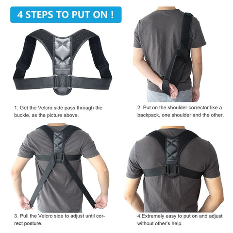 Steps to use our posture corrector