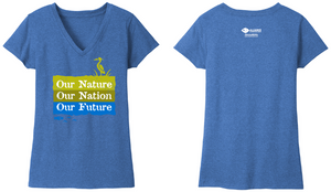 Women's V-Neck t-shirt in Blue Heather