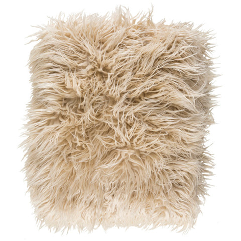Taupe Faux Fur Shaggy