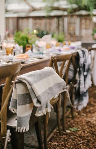 Blankets for outdoor dining