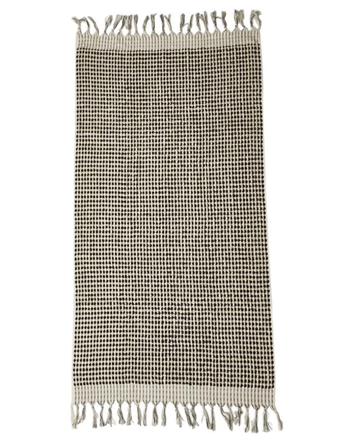 Crescent Towel in Black and White