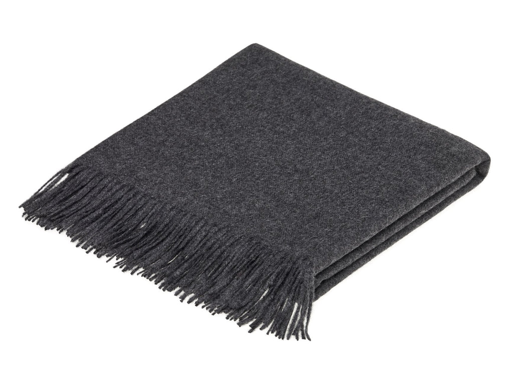Alpaca Throw in Charcoal