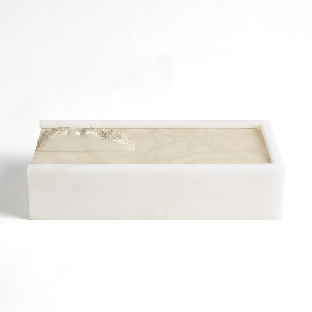 Alabaster Box w/Rock Finial