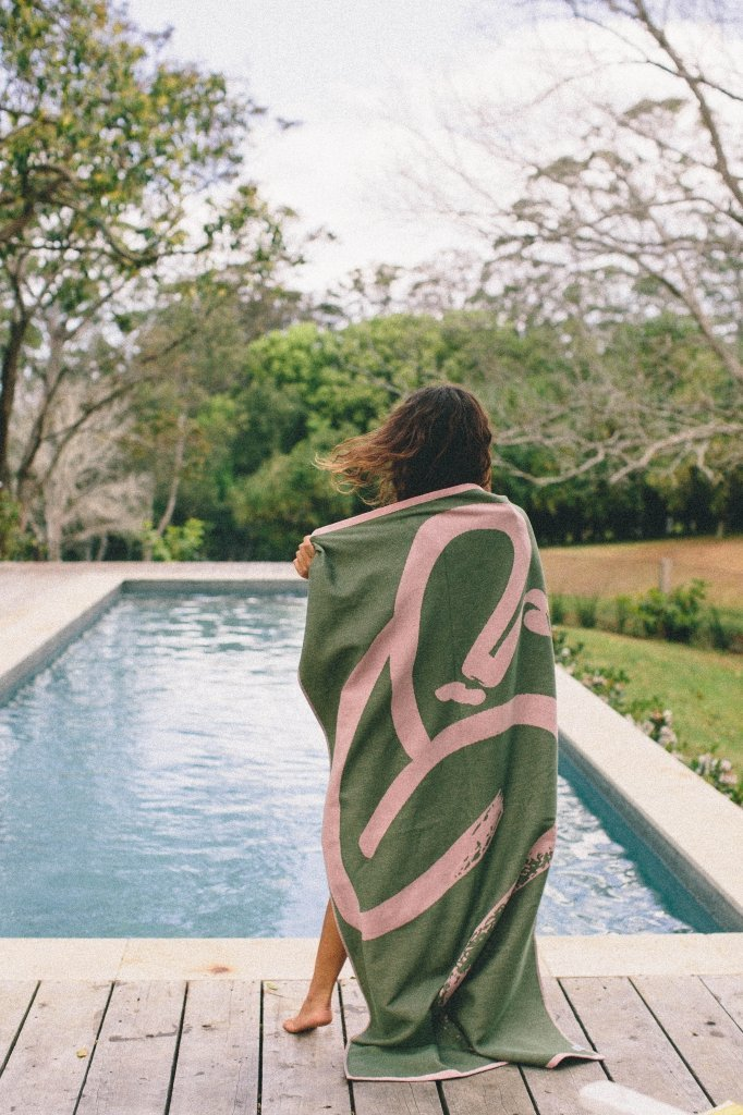 Bilgola Olive Towel and Blanket