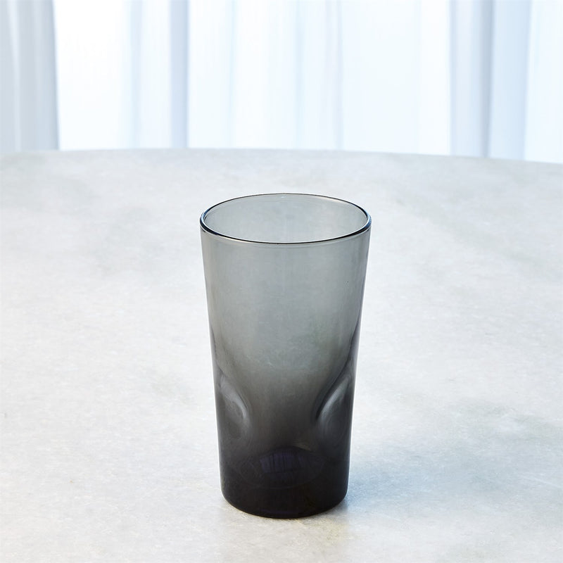 Pinched High Ball Glass in Grey