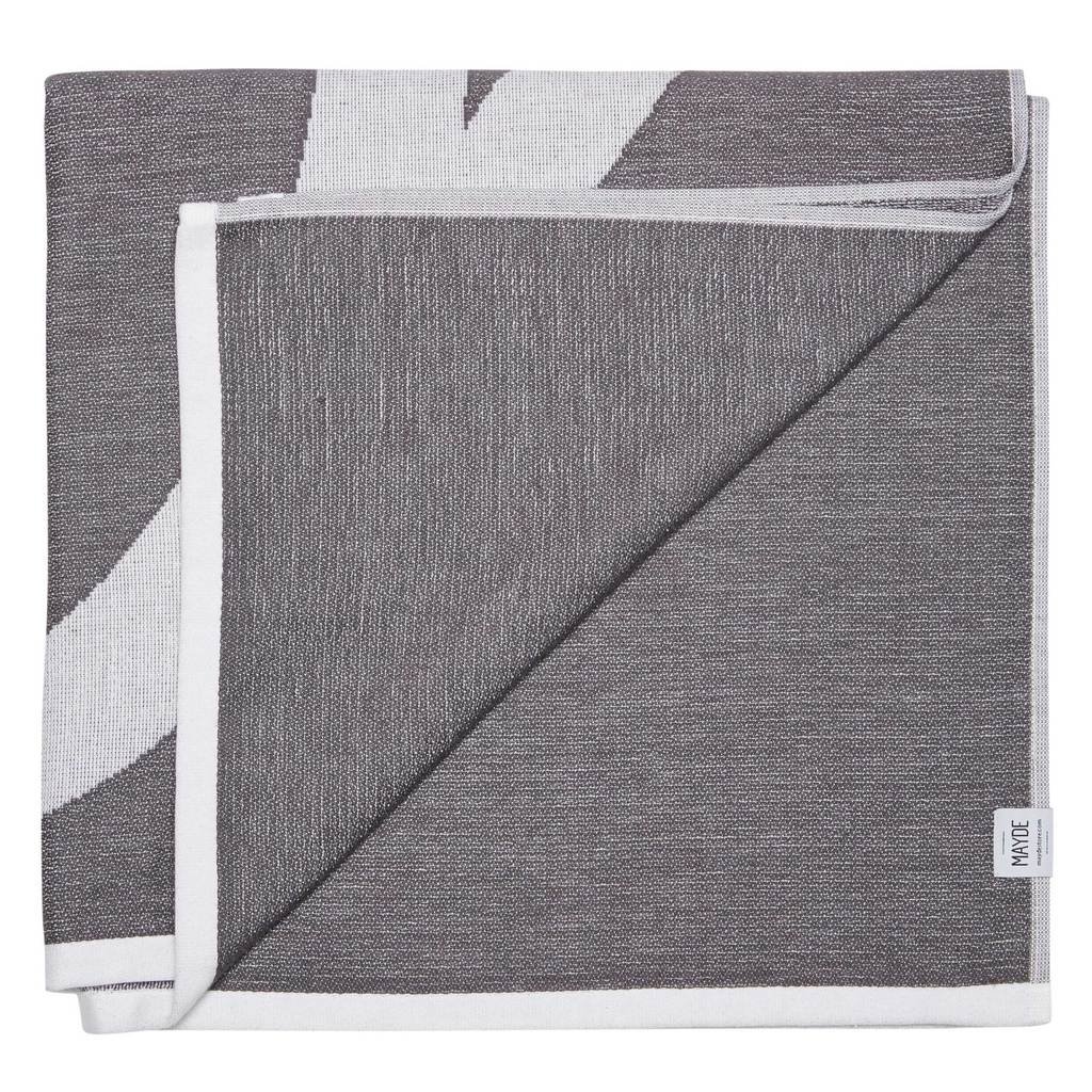 Bilgola Charcoal Towel and Blanket