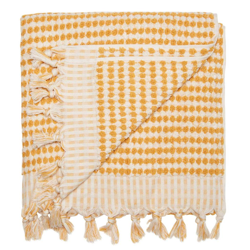 Crescent Towel in Mustard