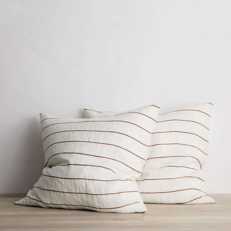cedar strip euro pillows