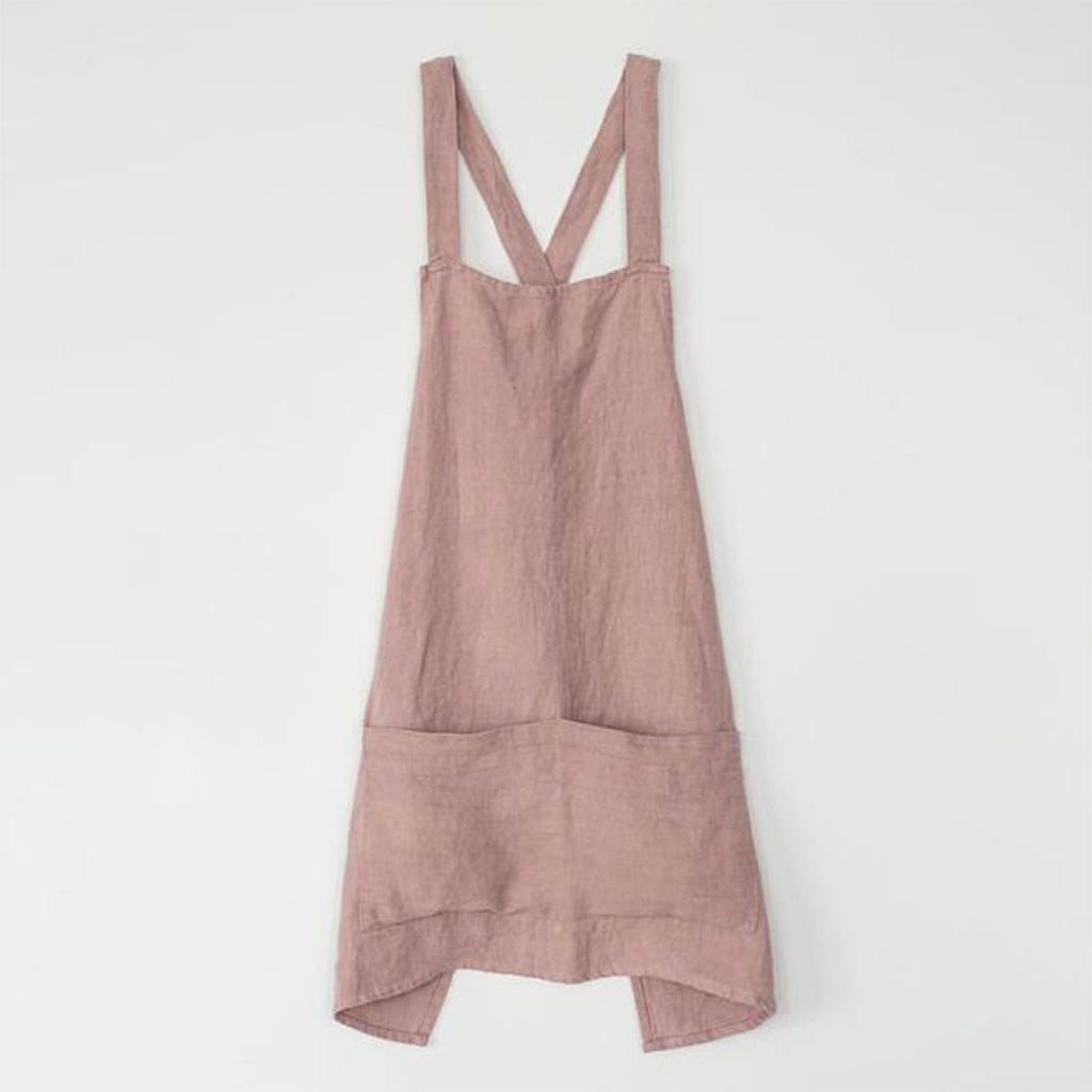 linen apron in fawn