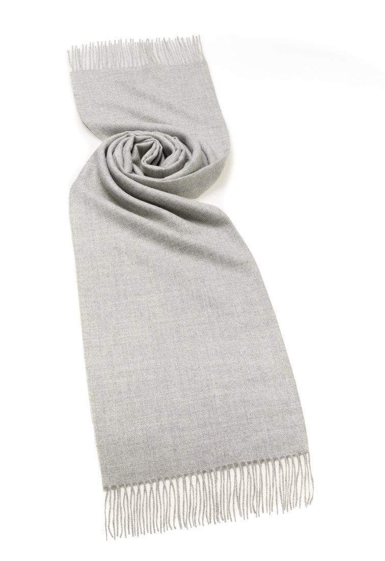 Alpaca Natural Grey Scarf