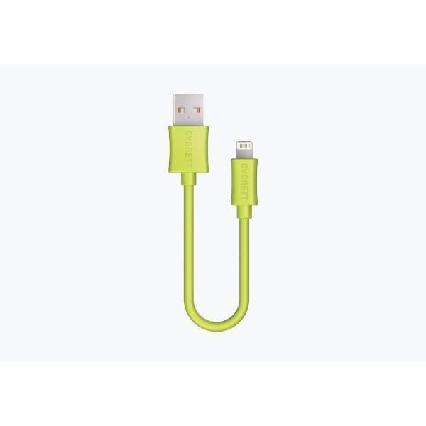 Cygnett Charge & Sync 10cm Lightning? to USB Cable in Green