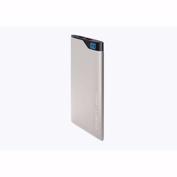 Cygnett ChargeUp Digital 6,000mAh Portable Power Bank in Space Grey