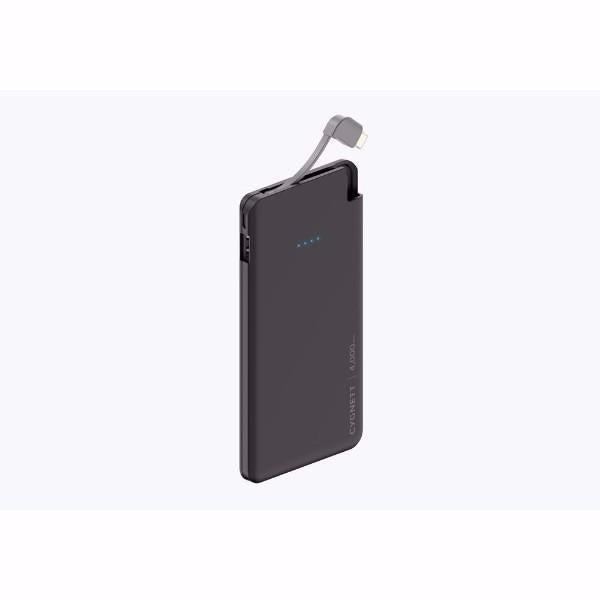 Cygnett ChargeUp Pocket 4,000mAh Portable Power Bank with Integrated Lightning? Cable