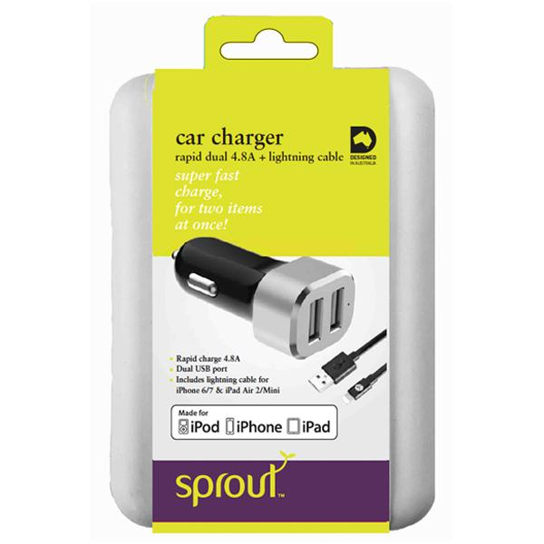 Sprout Rapid Dual Car Charger