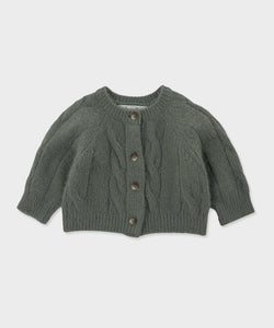 Baby Olivia Knit Cardigan (Vintage Green)