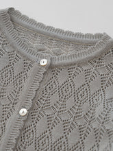 Load image into Gallery viewer, Beyer Knit Cardigan (blue gray)