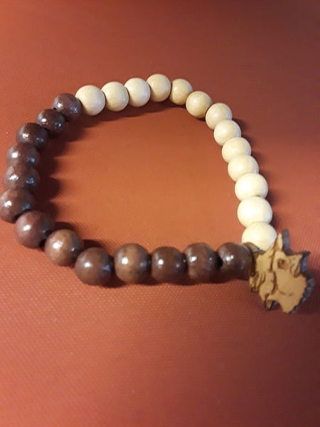 TWO TONE CHICK WOOD BRACELETS