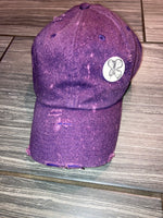 Butterfly bleached dad cap