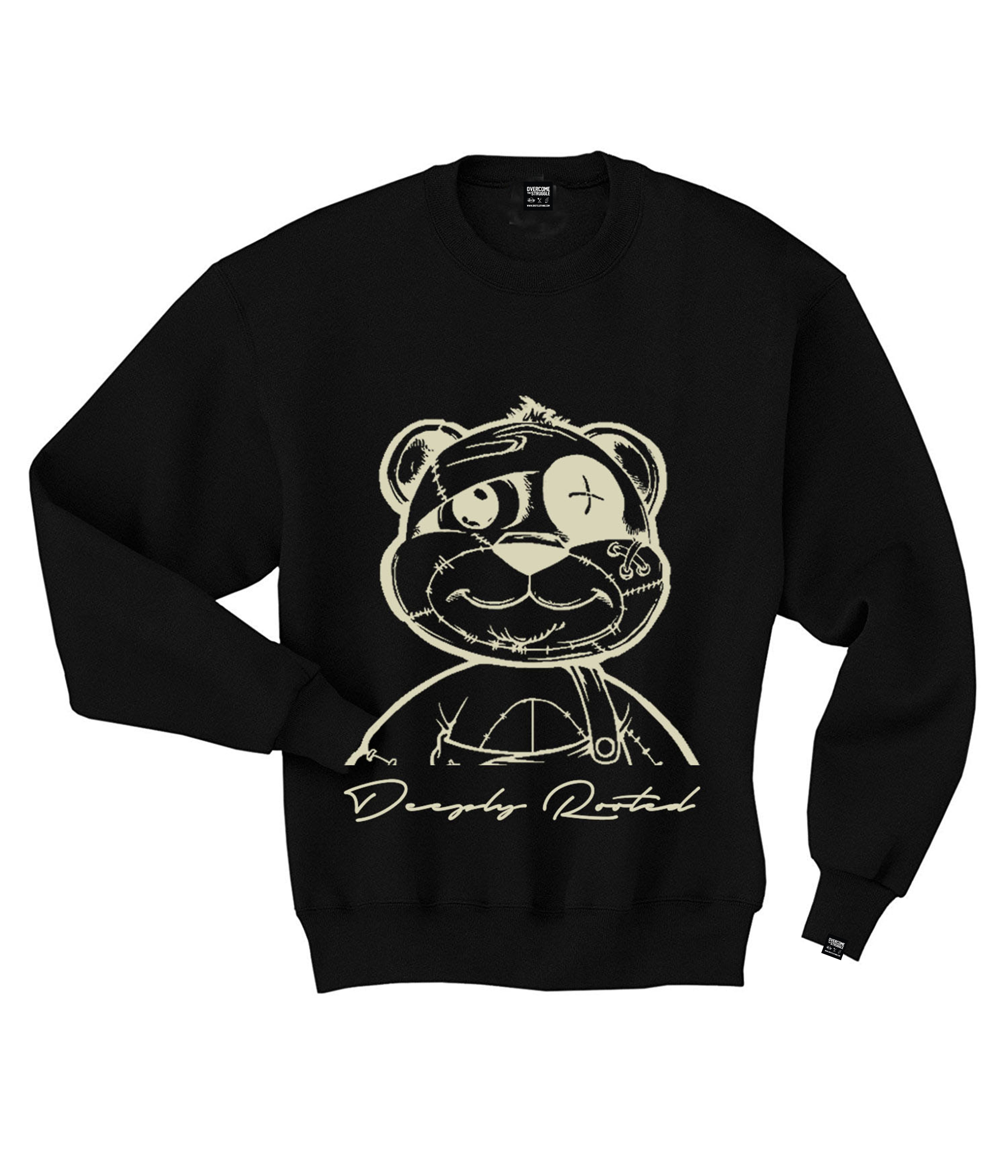 MEN TEDDY OUTLINE CREWNECK