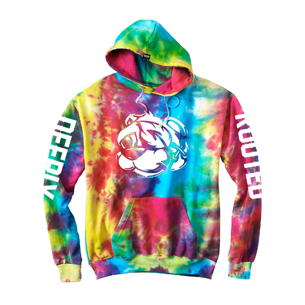 UNISEX TIE-DYED BEAR PULLOVER