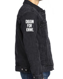 UNISEX BLACK DENIM JACKET (SCARECROW COLOR)