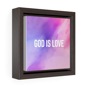 Square Framed Premium Gallery GOD IS LOVE Wall Art