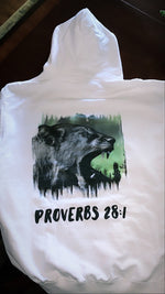 Load image into Gallery viewer, PROVERBS 28:1 HOODIE