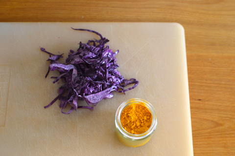 Turmeric and Cabbage Easter Egg Dye