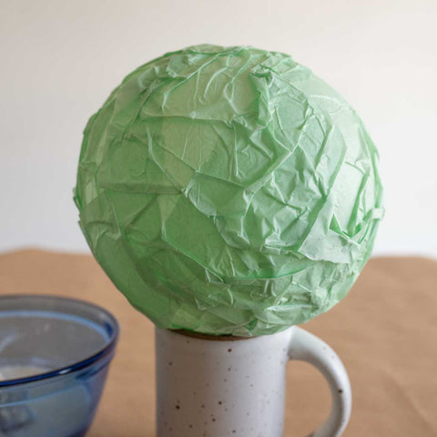 Paper mache globe for Earth Day sustainable craft projects
