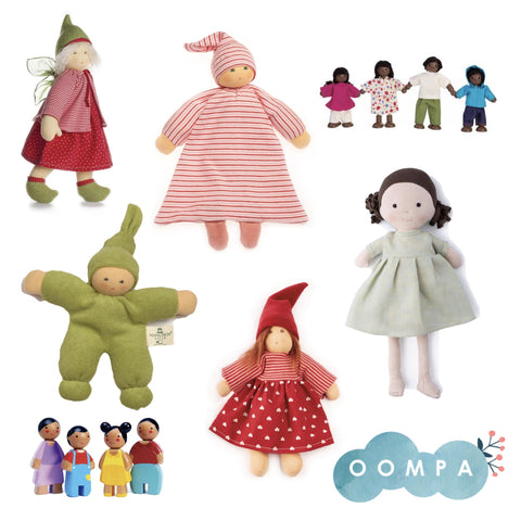 A collection of dolls from Oompa Toys