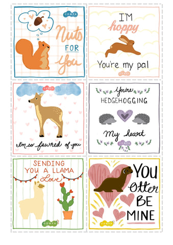 Printable Valentine's Cards from Oompa Toys