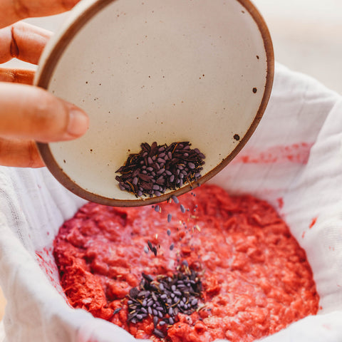 Wildflower seed bomb Valentine paper pulp and seeds