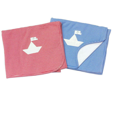 Nanchen Organic Baby Blanket Sailboat
