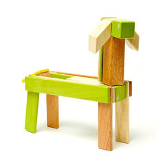 Tegu 24-Piece Magnetic Wooden Blocks - Jungle