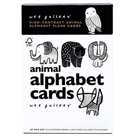 Wee Gallery Animal Alphabet Cards at Oompa Toys Early Learning