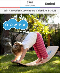 Wooden Curvy Board Giveaway